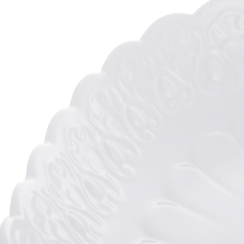 "Блюдо сервировочное фарфоровое, 25,5х25,5х5 см, рельеф, MILLIMI ""Жемчуг"" - 4"