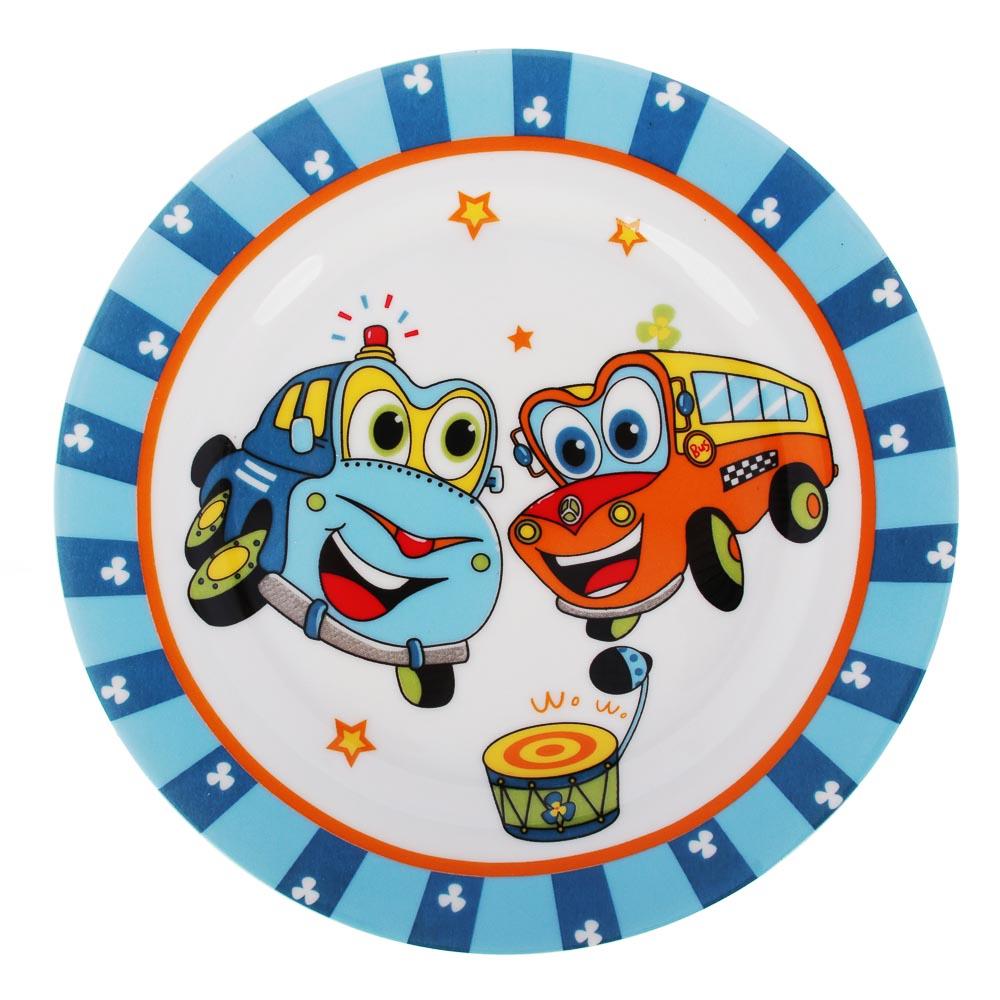 Набор детской посуды: тарелка 18 см, суповая тарелка 12,5х5,5 см, кружка 215 мл, костяной фарфор MIL - 2