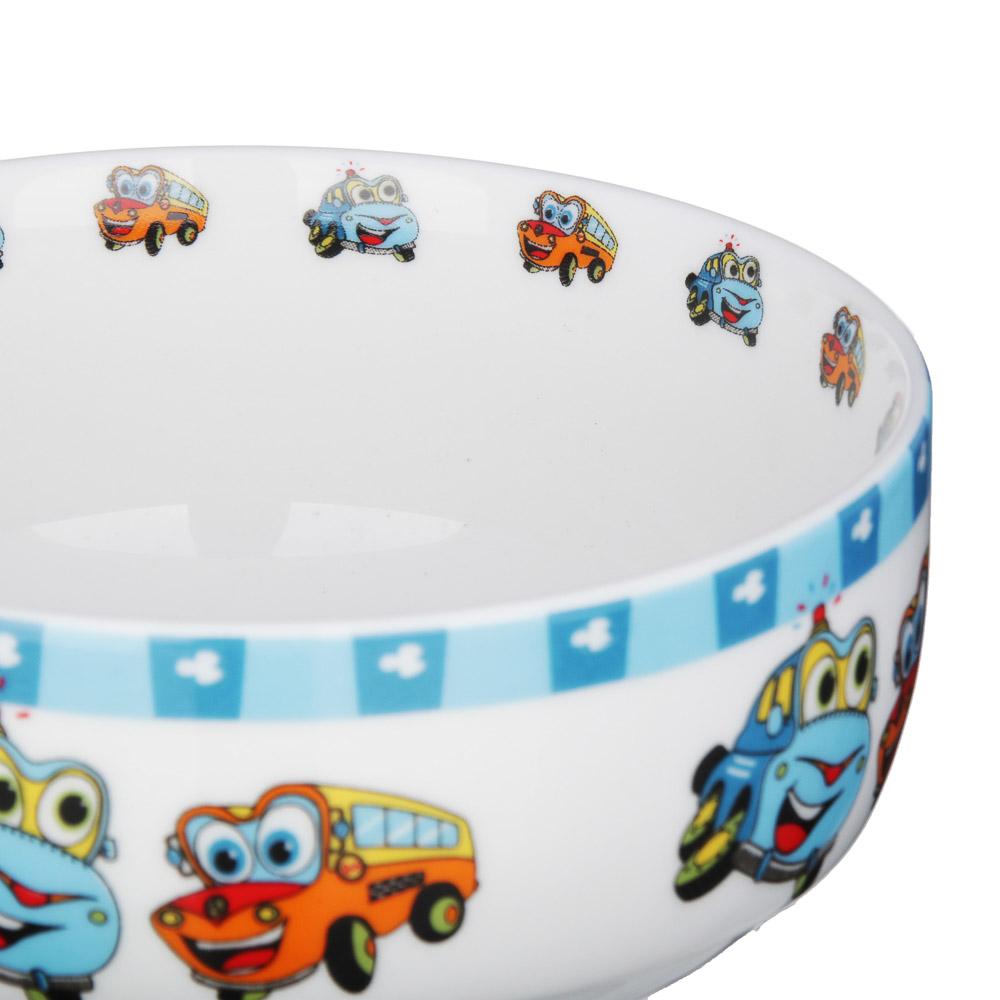 Набор детской посуды: тарелка 18 см, суповая тарелка 12,5х5,5 см, кружка 215 мл, костяной фарфор MIL - 3