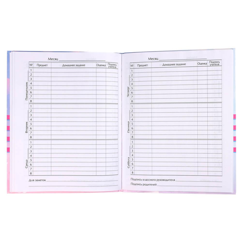 Дневник школьный для младших классов, офсет 60 г/м2, обложка гибкая интегральная - 3
