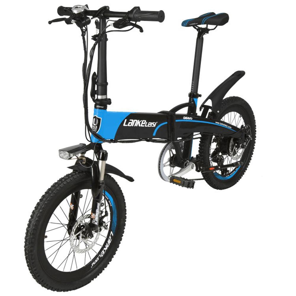 LANKE LEISI Велогибрид G660, 20 дюймов, 157х110 см, акк. 48V10A - 2