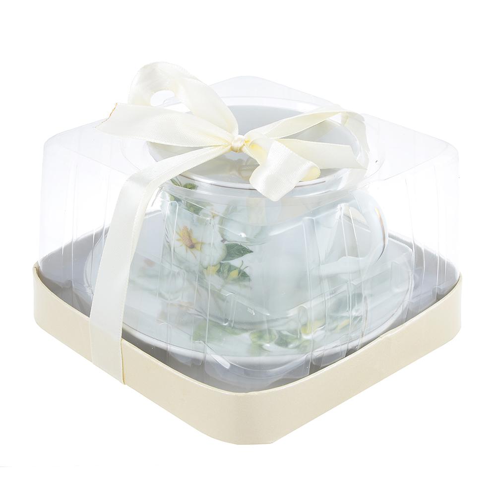 Белая роза Набор чайный 2 пр., 220мл, фарфор - 2