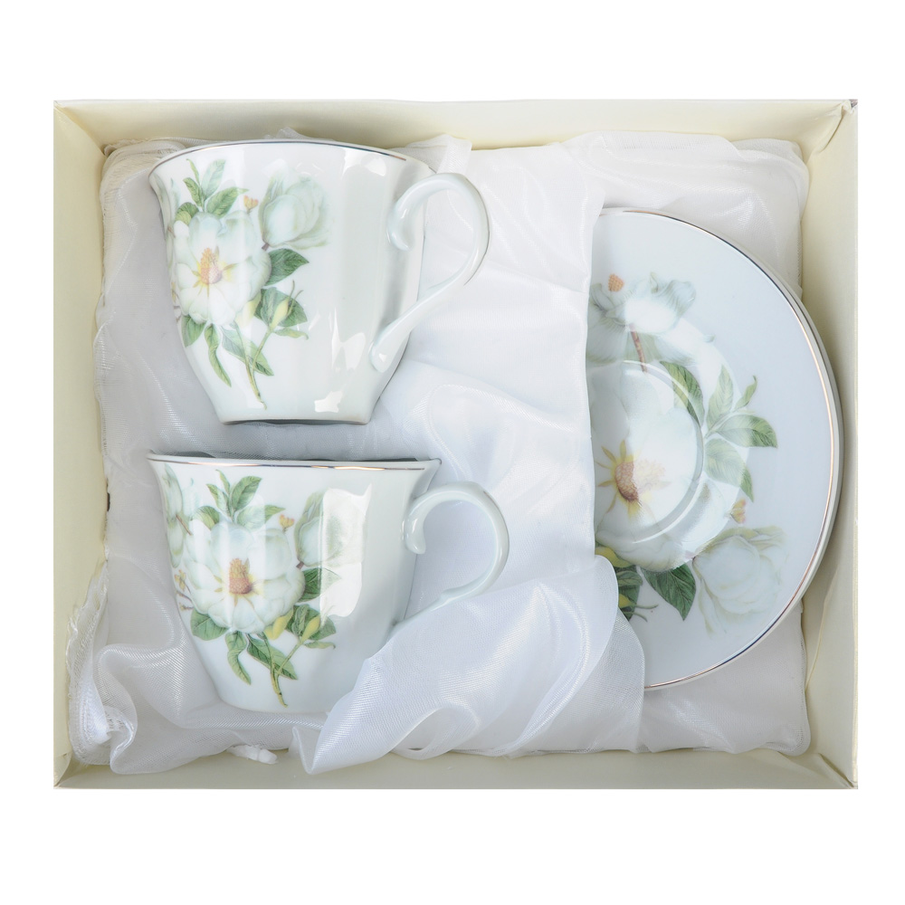 Белая роза Набор чайный 4 пр., 220мл, фарфор - 2