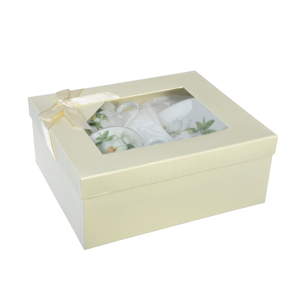 Белая роза Набор чайный 4 пр., 220мл, фарфор - 3