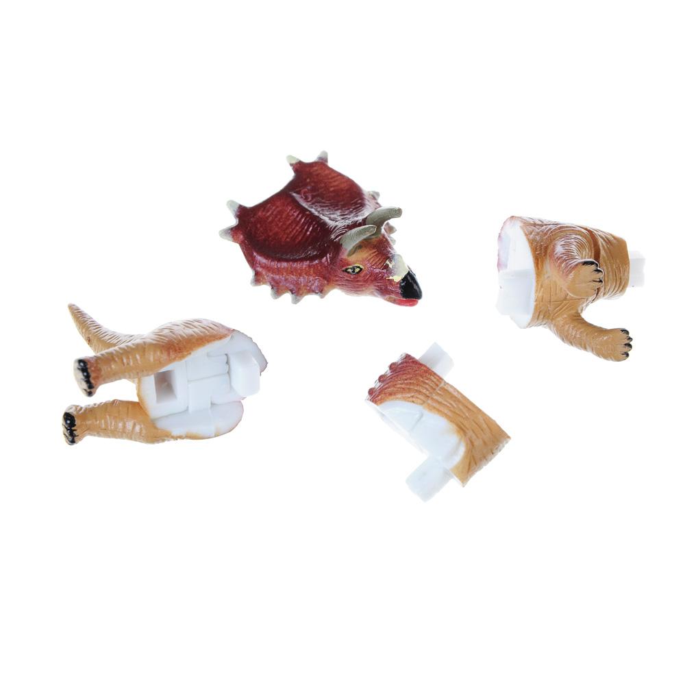 """ИГРОЛЕНД Фигурка-пазл """"Динозавр"""", коллекционная, 6-10см, в пакете,10х14х4см, пластик, 7-28 деталей - 3"""