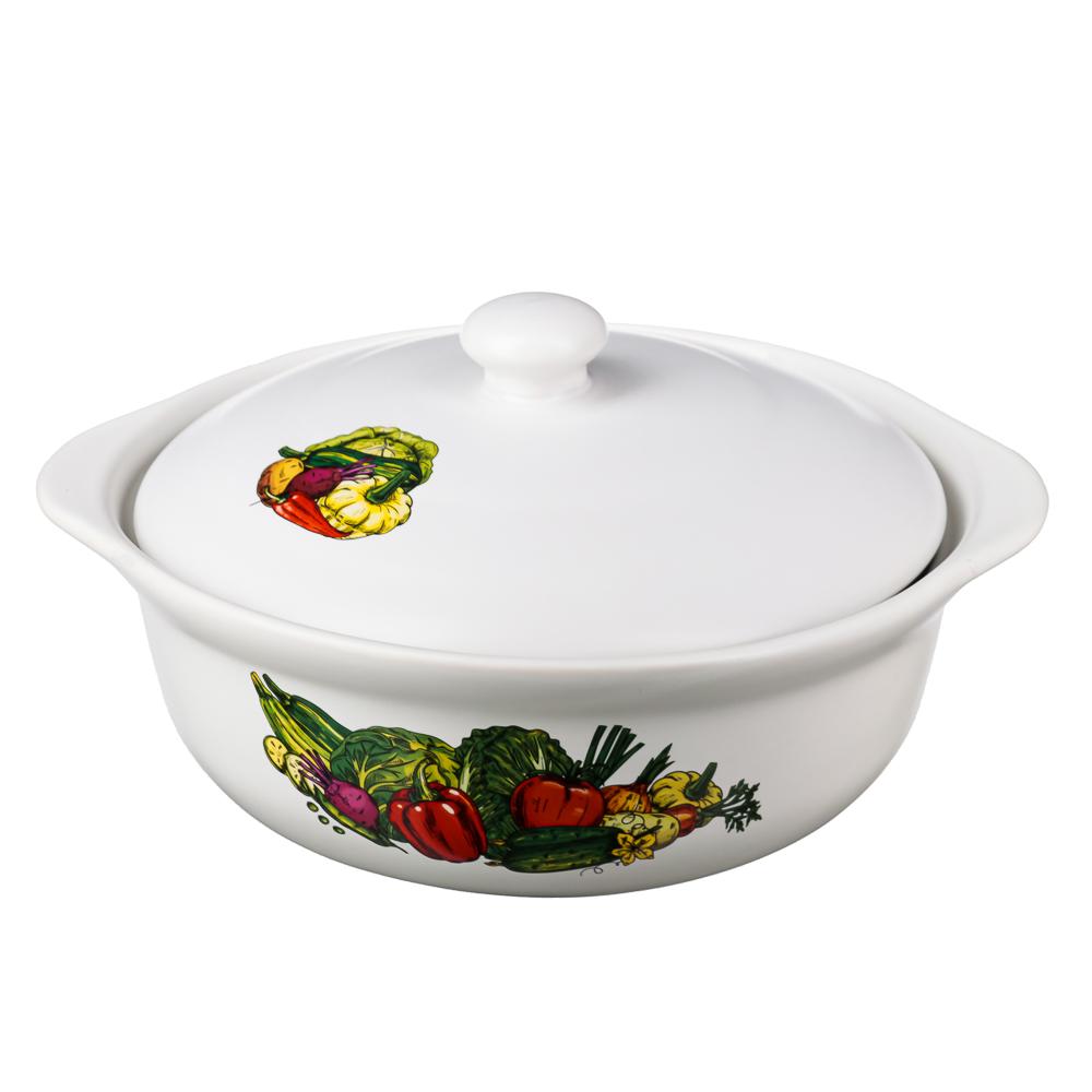 Кастрюля керамическая 2 л MILLIMI Аппетит, с крышкой, 4 дизайна - 3