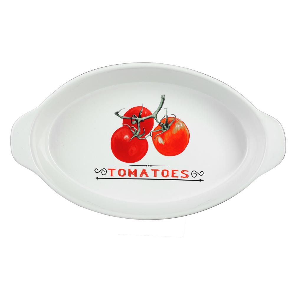 """Форма для запекания и многослойных салатов овальная, с ручкой, керамика, 30х17х5 см, MILLIMI """"Вельве - 2"""