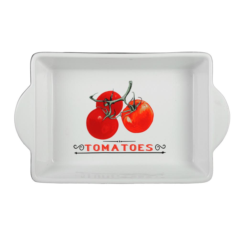Форма для запекания и многослойных салатов прямоугольная, с ручкой, керамика, 28х17.5х5 см, MILLIMI - 2