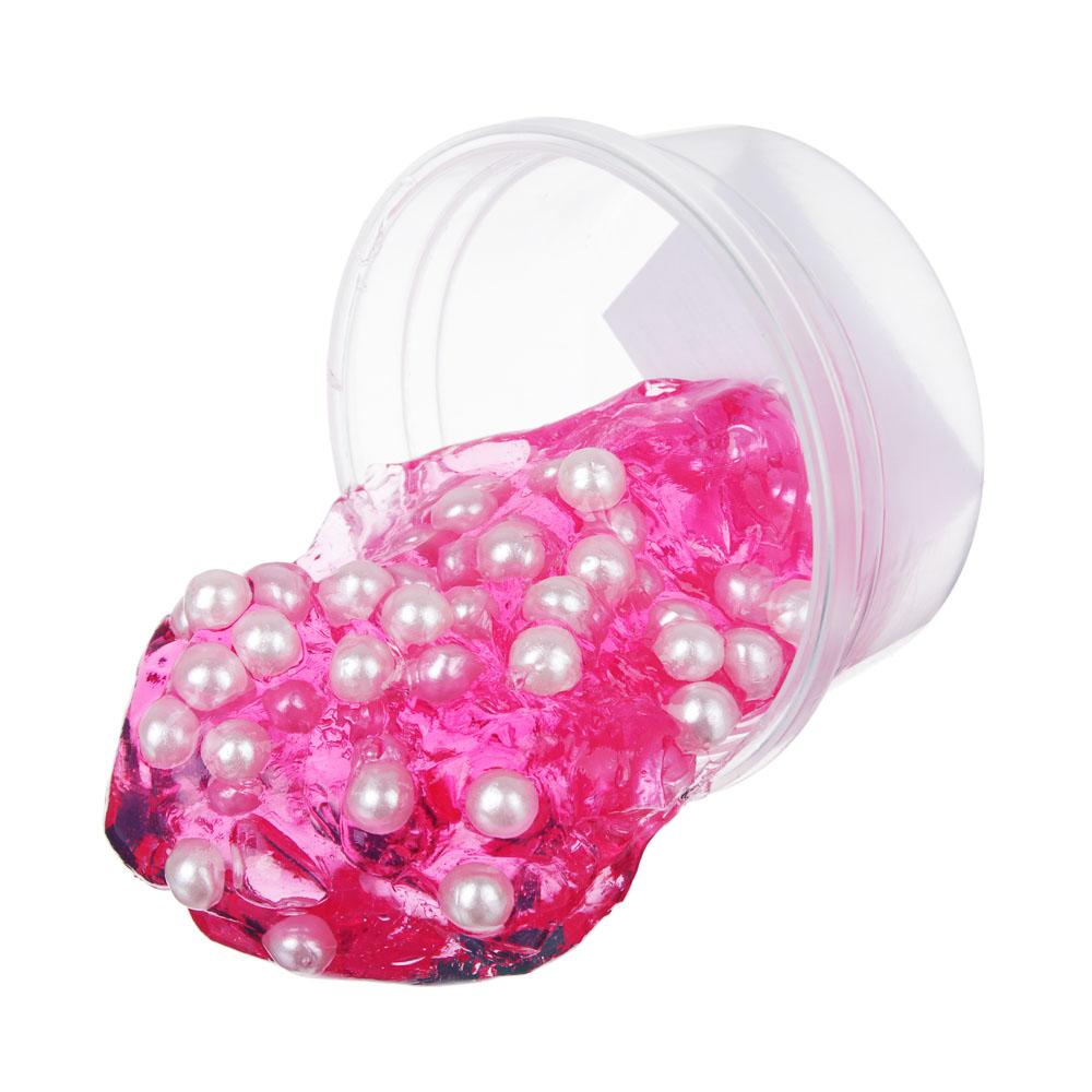 Слайм с жемчужными бусинами, 62-70гр, пластик, полимер, 6 цветов - 4