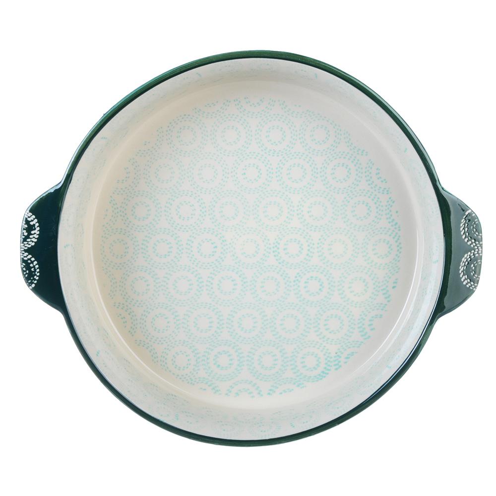 Форма для запекания MILLIMI, d. 25 см, круглая с ручками, бирюзовый - 2