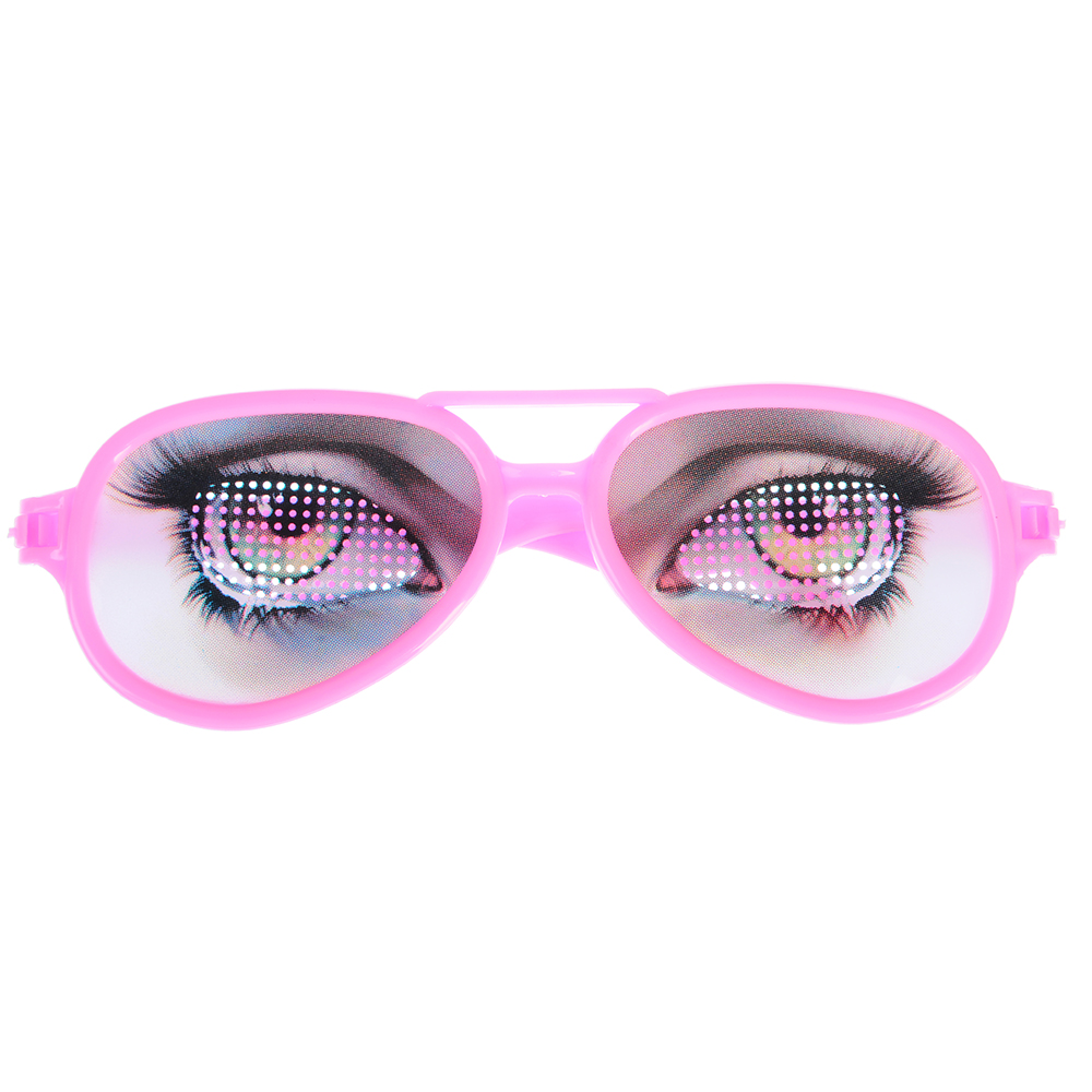 Очки-розыгрыш, пластик, 16х5х1см , 12 дизайнов - 2