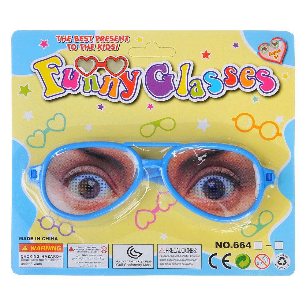 Очки-розыгрыш, пластик, 16х5х1см , 12 дизайнов - 3