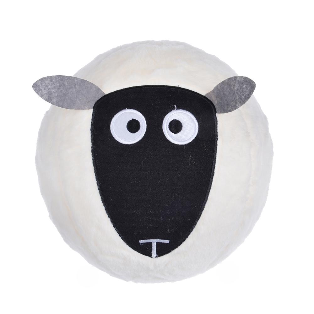 МЕШОК ПОДАРКОВ Мяч надувной пушистый в виде животного, 30см,полиэстер,резина, 30,5х30,5см, 2 дизайна - 2