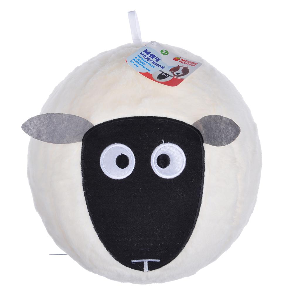 МЕШОК ПОДАРКОВ Мяч надувной пушистый в виде животного, 30см,полиэстер,резина, 30,5х30,5см, 2 дизайна - 3