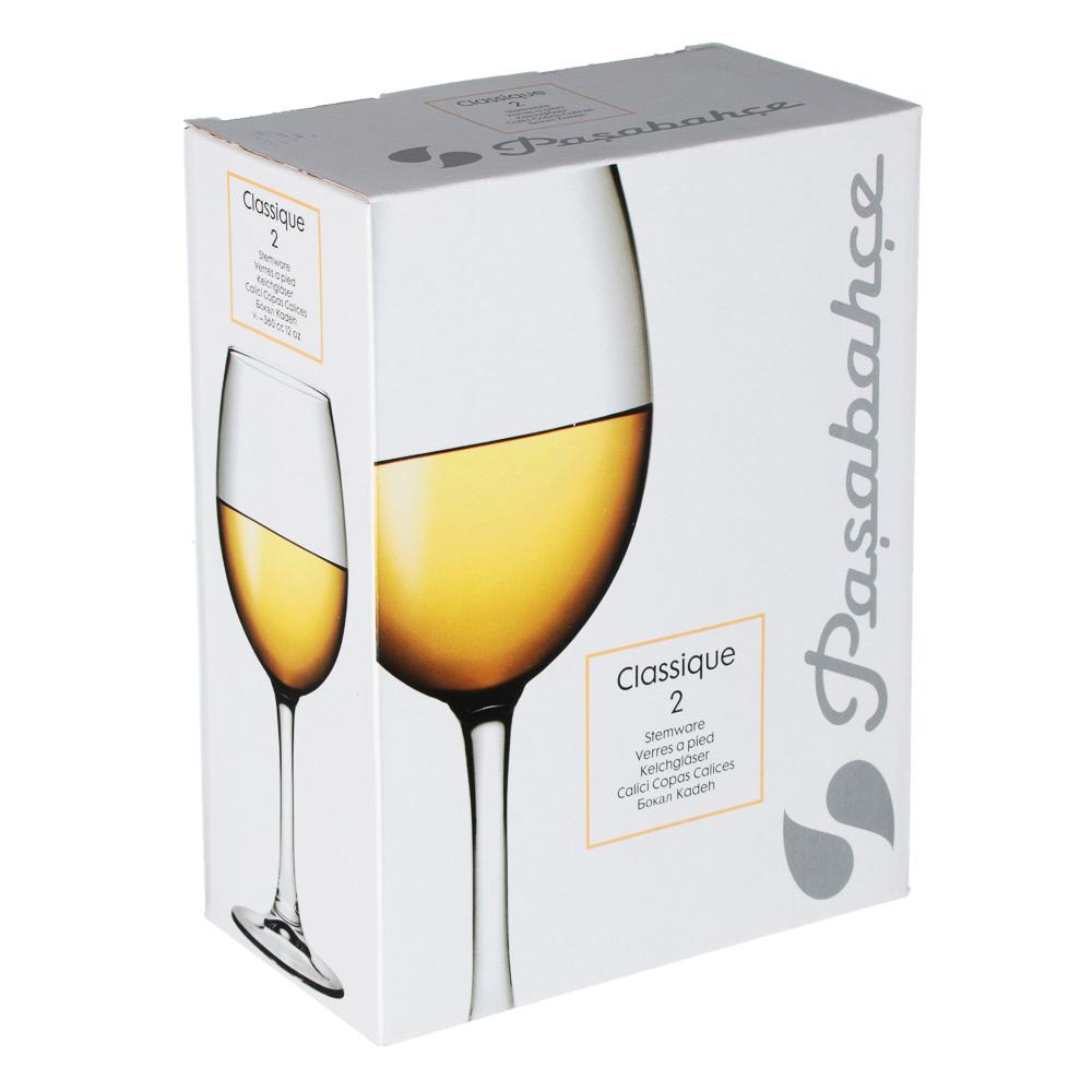 """Набор бокалов для вина 2 шт 360 мл (на длинной ножке), PASABAHCE """"Classique"""" арт.440151B - 3"""