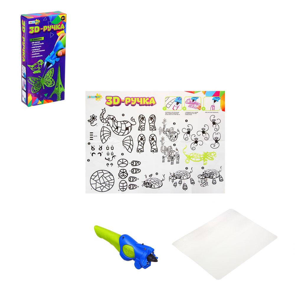 ХОББИХИТ Ручка 3D с картриджем на батарейках, 3хAG13, ABS, металл, полимер, 6 цветов, 23,7х11х4 - 3