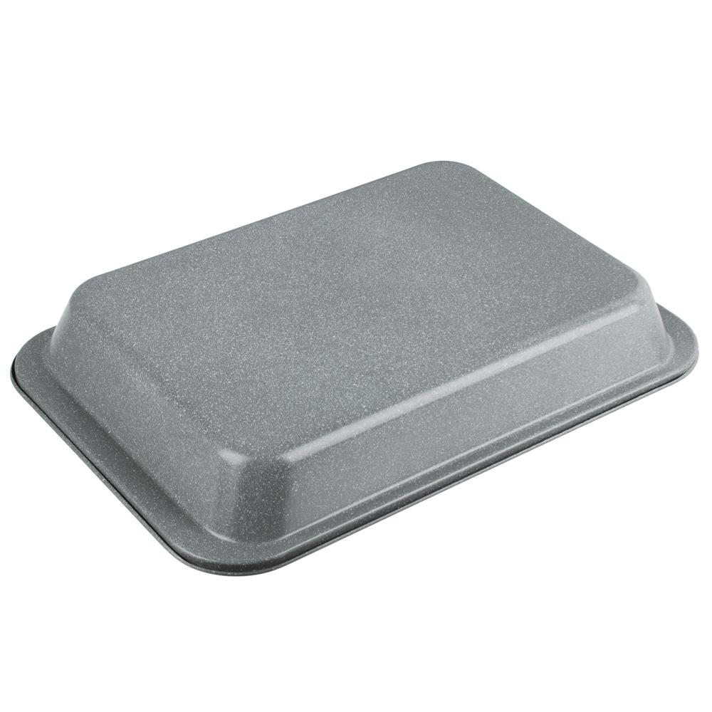 Противень глубокий SATOSHI, 37,5х25х5,5 см, углеродистая сталь, антипригарное покрытие мрамор - 2