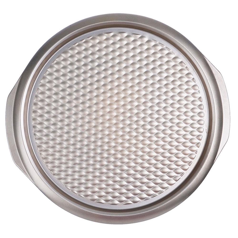 Форма для пиццы 37х35х2 см, углеродистая сталь, золотистое покрытие - 3