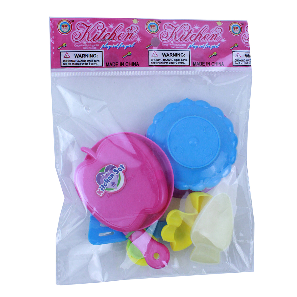 Посудка детская, 7пр., пластик, 13х18х3см, 2 дизайна - 3