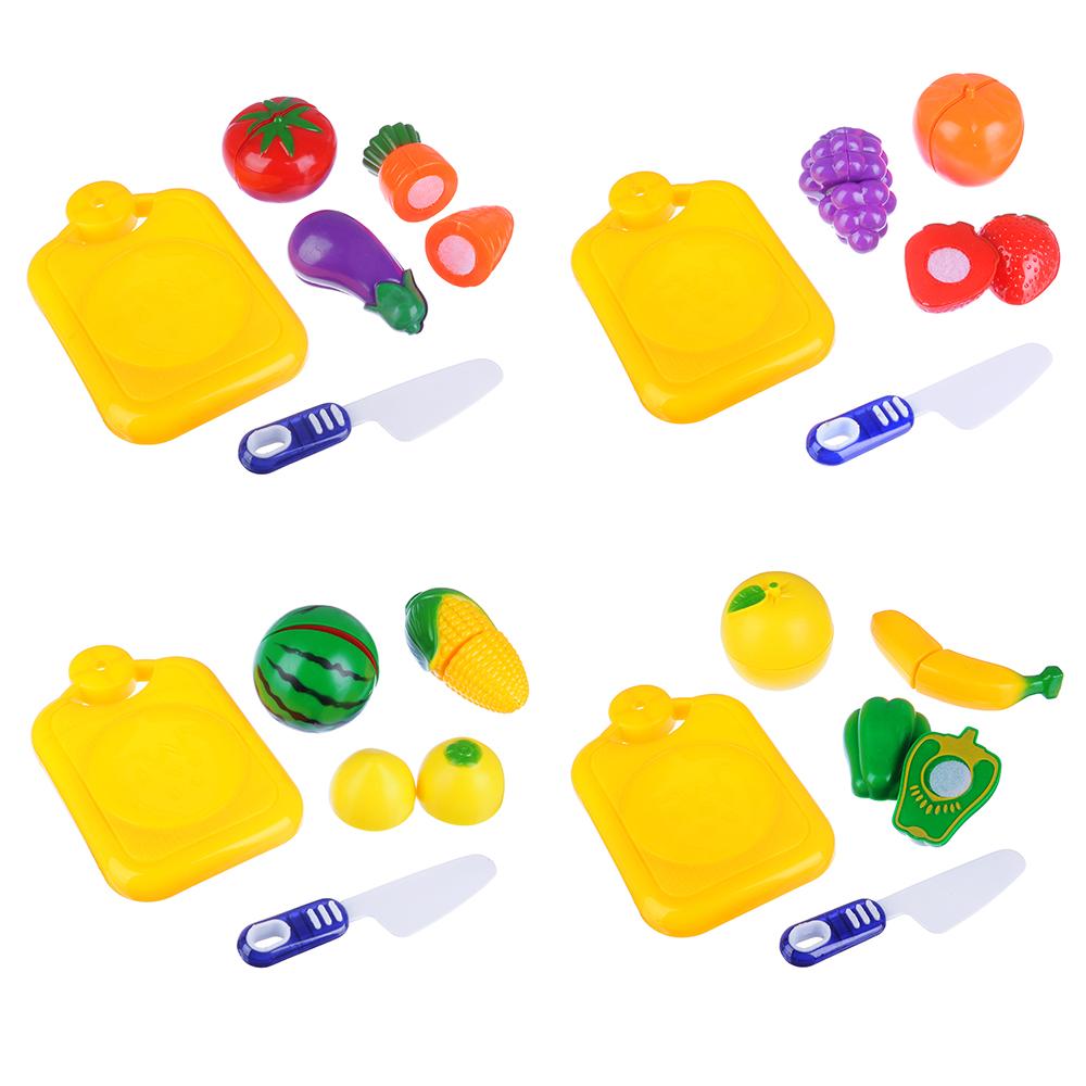 ИГРОЛЕНД Набор овощей и фруктов для резки, 5пр., пластик, 17х20,5х4,5см, 4 дизайна - 2