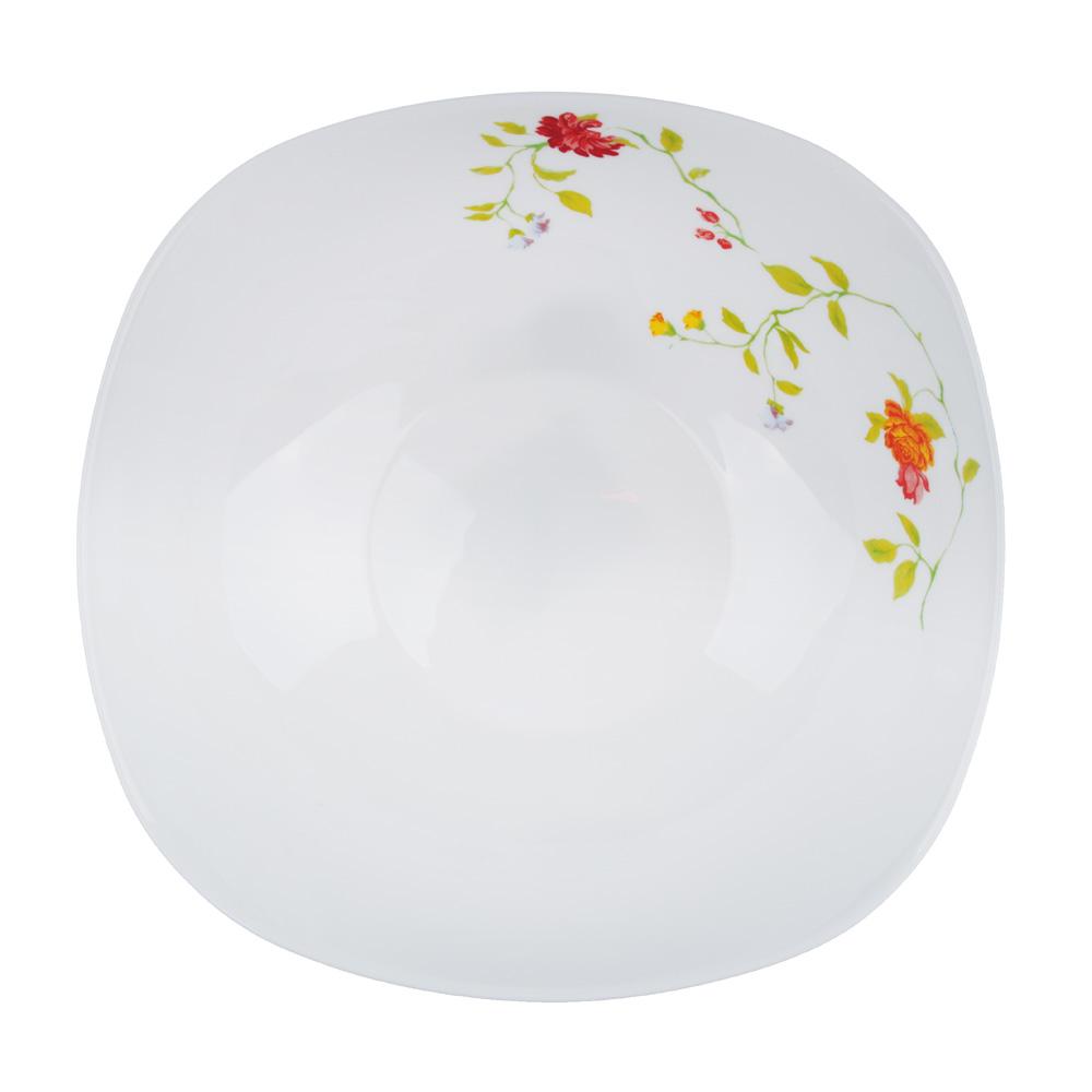 "Салатник d. 24 см, опаловое стекло, квадратная форма, MILLIMI ""Дионис"" - 2"