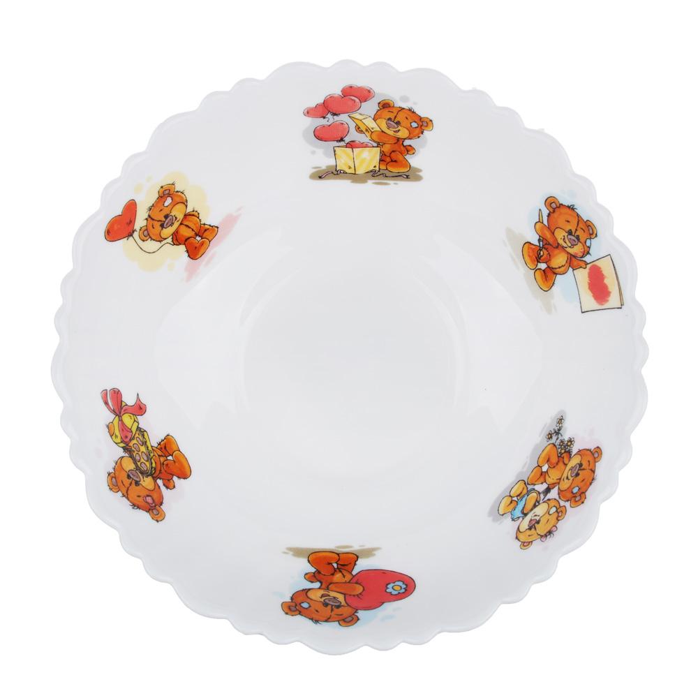 """Тарелка суповая детская 15 см, опаловое стекло, MILLIMI """"Медвежонок"""" - 2"""