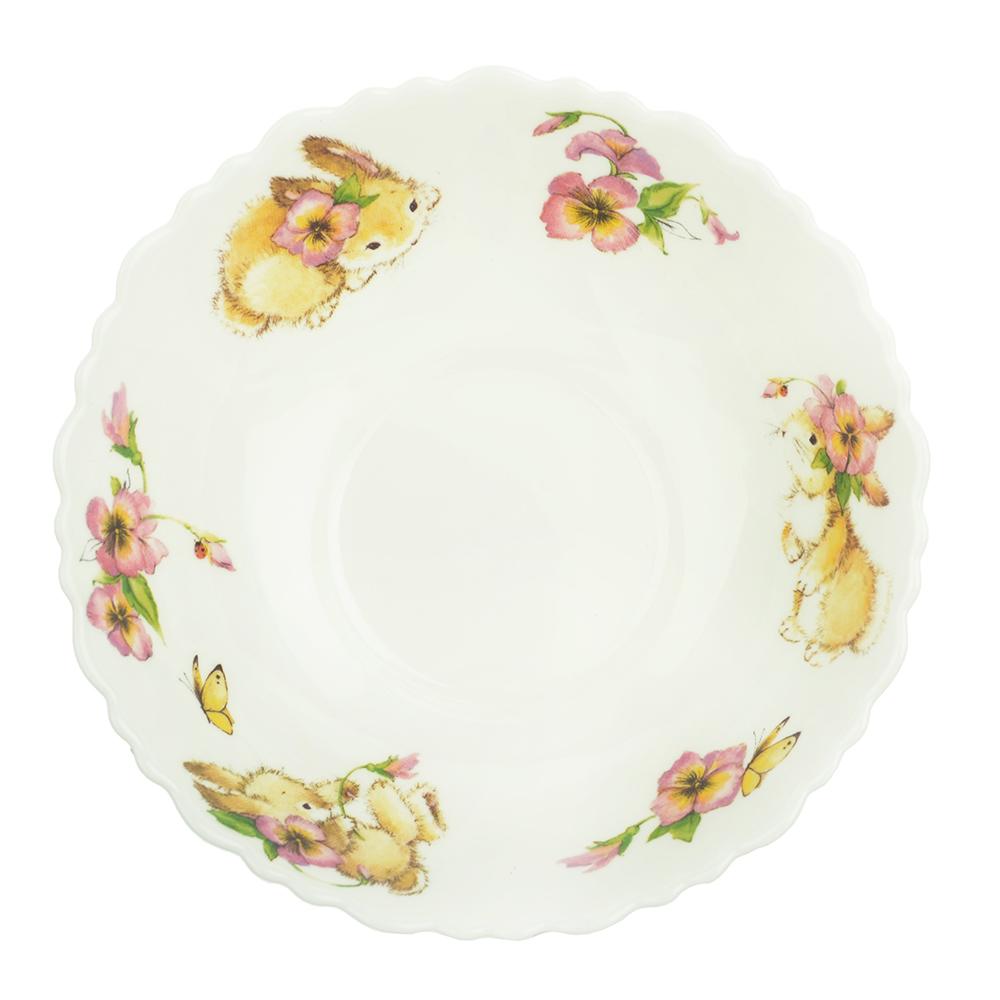 """Тарелка суповая детская 15 см, опаловое стекло, MILLIMI """"Зайчата"""" - 2"""