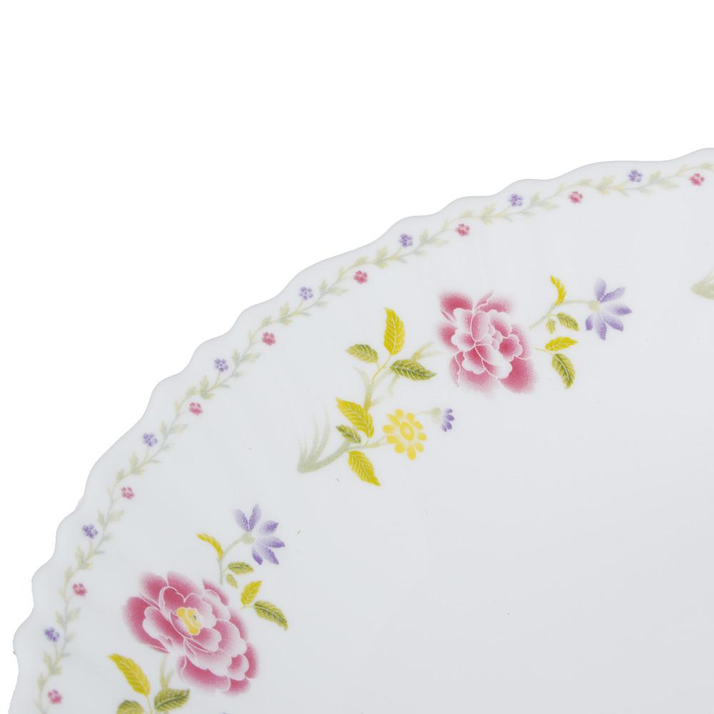 "Тарелка десертная d.19 см, опаловое стекло, MILLIMI ""Диана"" - 2"