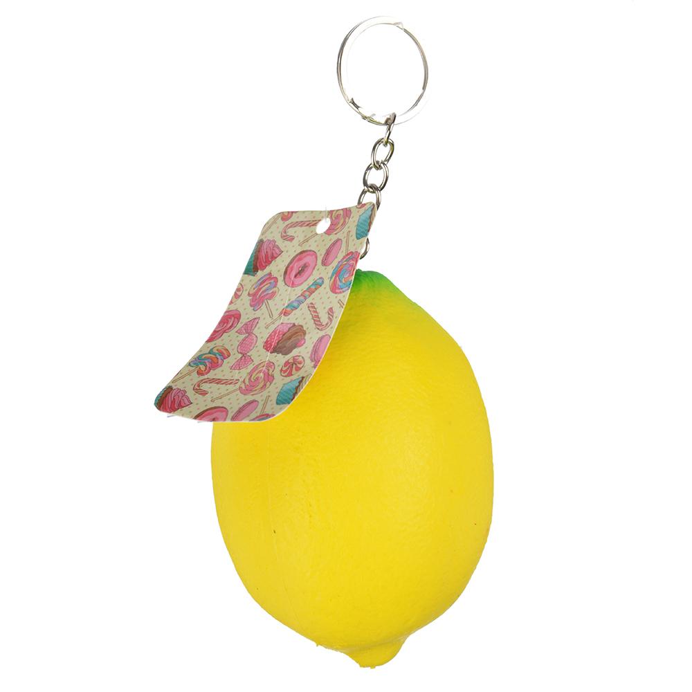 Игрушка-мялка лимон с ароматом, ПУ, 7х9х7см - 2