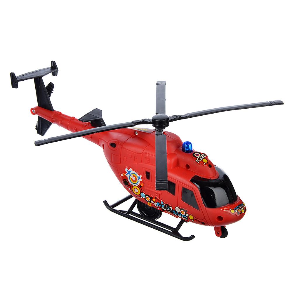 Игрушка заводная в виде вертолета, пластик, 26х9,5х6,5см - 3