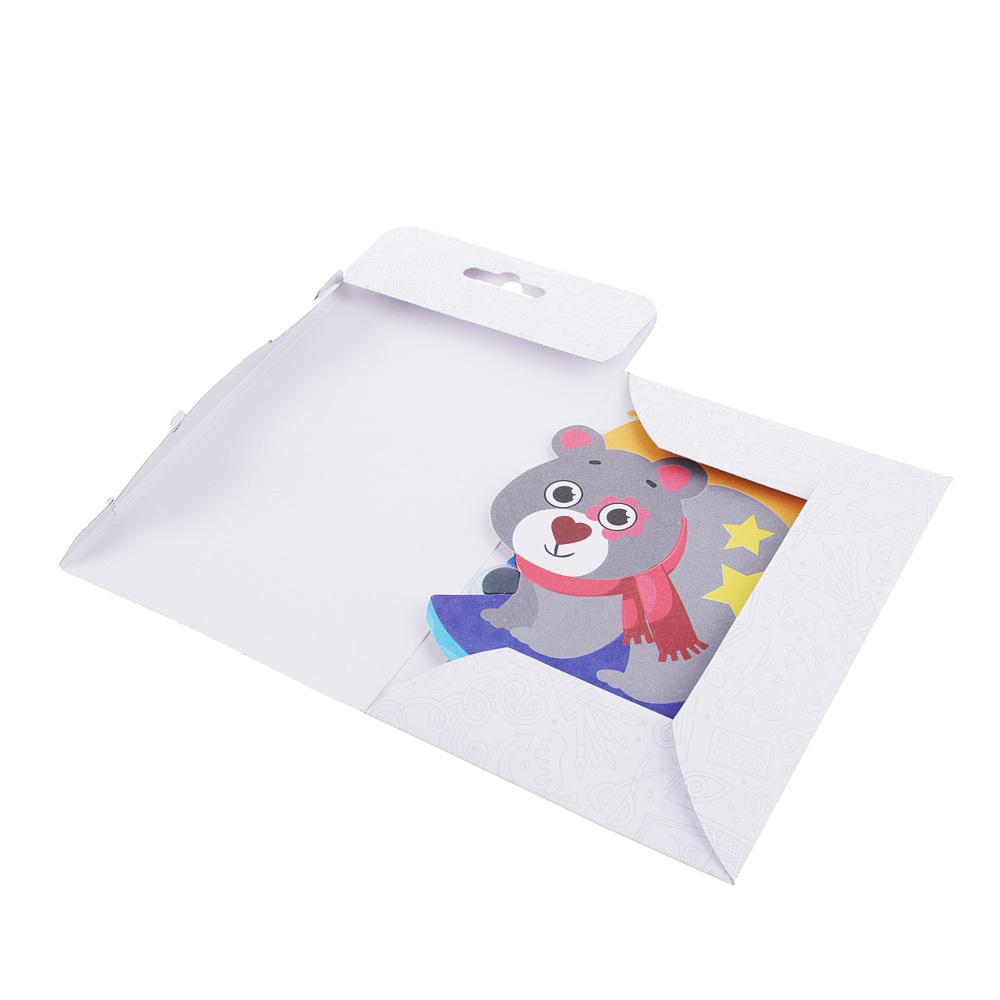 ХОББИХИТ Фреска-магнитик, фольга, магнит, бумага, пластик, 10,8х18х0,3см, 4-8 дизайнов - 3