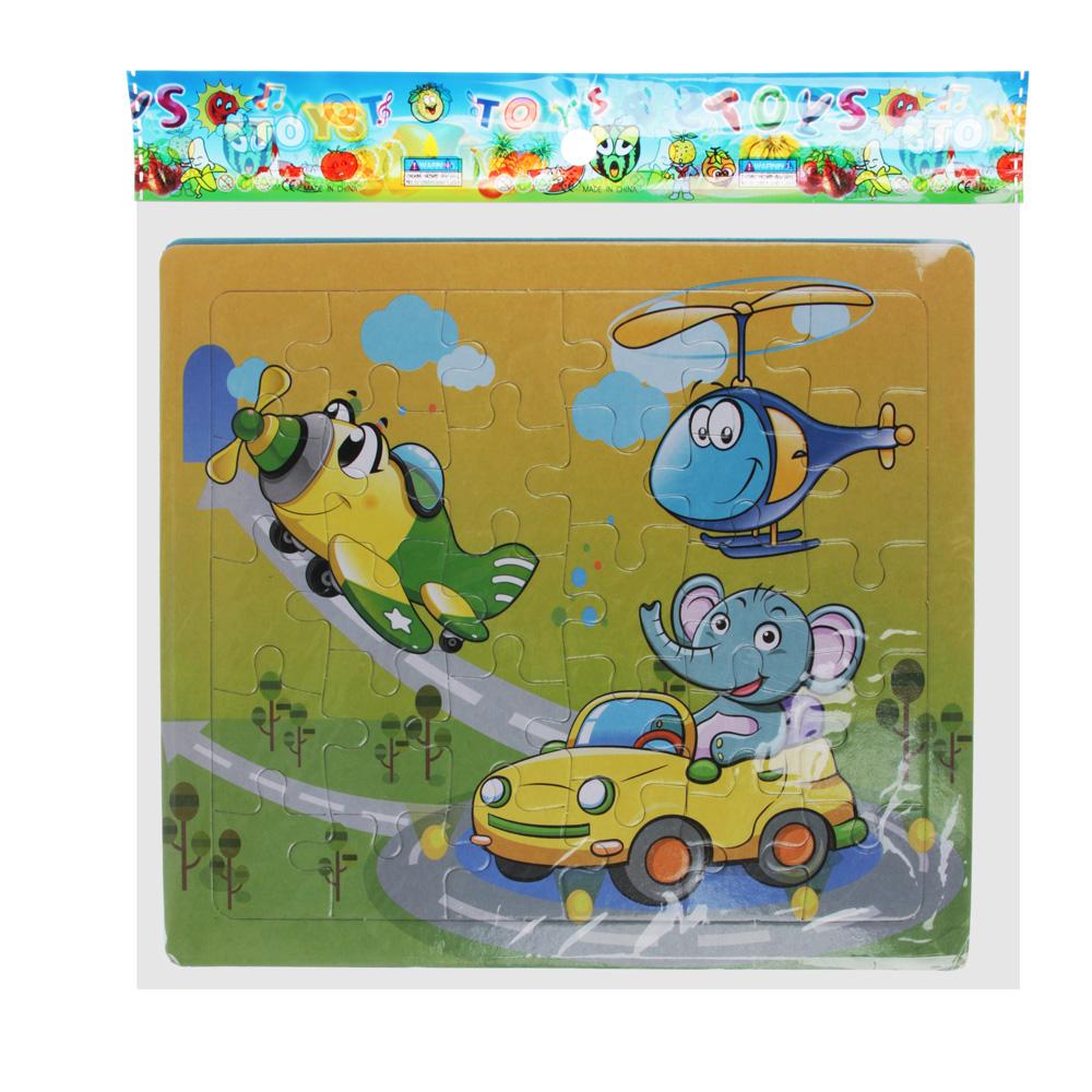 Пазл + рамка для рисования, маркер, картон, 19х17,2х0,5 см, 6-12 дизайнов - 5