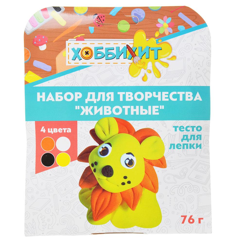 """ХОББИХИТ Набор для творчества """"Животные"""", тесто для лепки 76г, 4 дизайна - 5"""