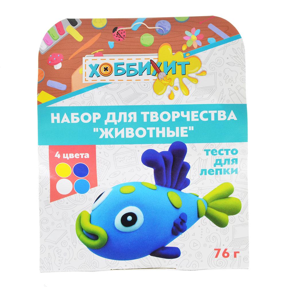 """ХОББИХИТ Набор для творчества """"Животные"""", тесто для лепки 76г, 4 дизайна - 6"""