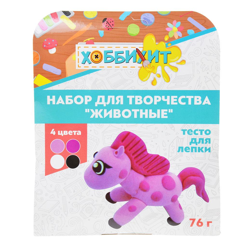 """ХОББИХИТ Набор для творчества """"Животные"""", тесто для лепки 76г, 4 дизайна - 7"""