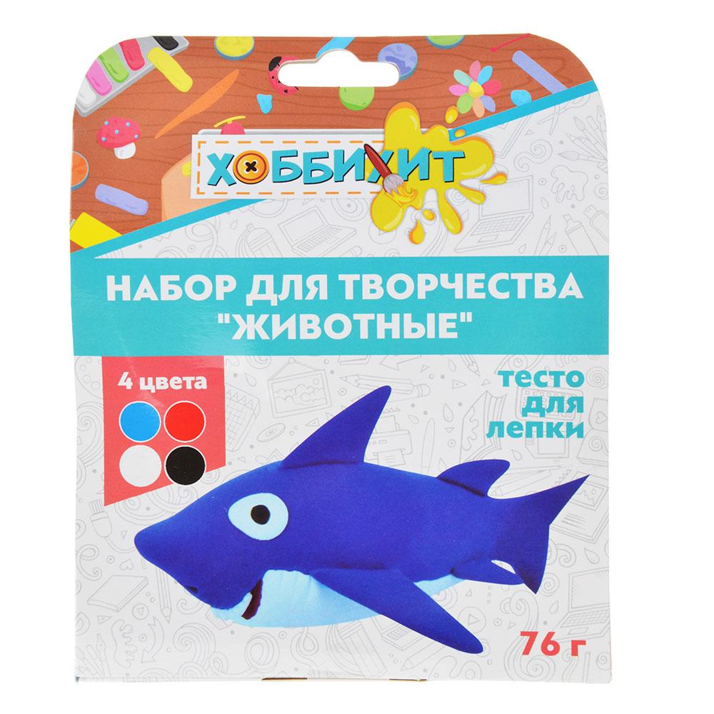 """ХОББИХИТ Набор для творчества """"Животные"""", тесто для лепки 76г, 4 дизайна - 8"""
