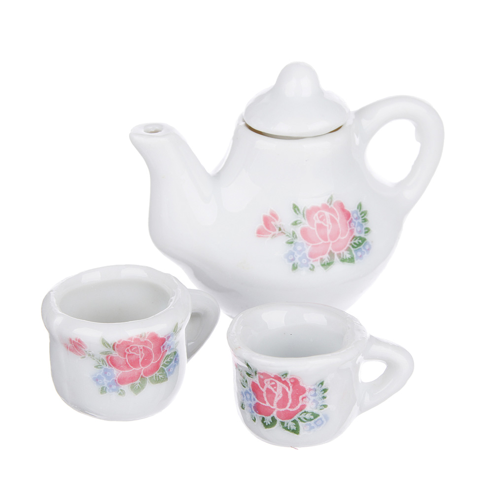 ИГРОЛЕНД Набор чайный для кукол, керамика, 10х8,5х3,6см, 4 дизайна - 2