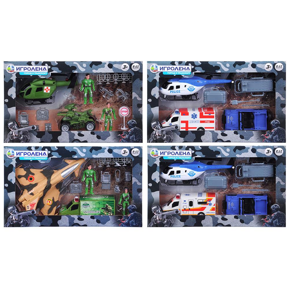 """Набор игровой """"Вооруженные силы"""", 8-13пр., пластик, 42х25х7,5см, 4 дизайна - 3"""