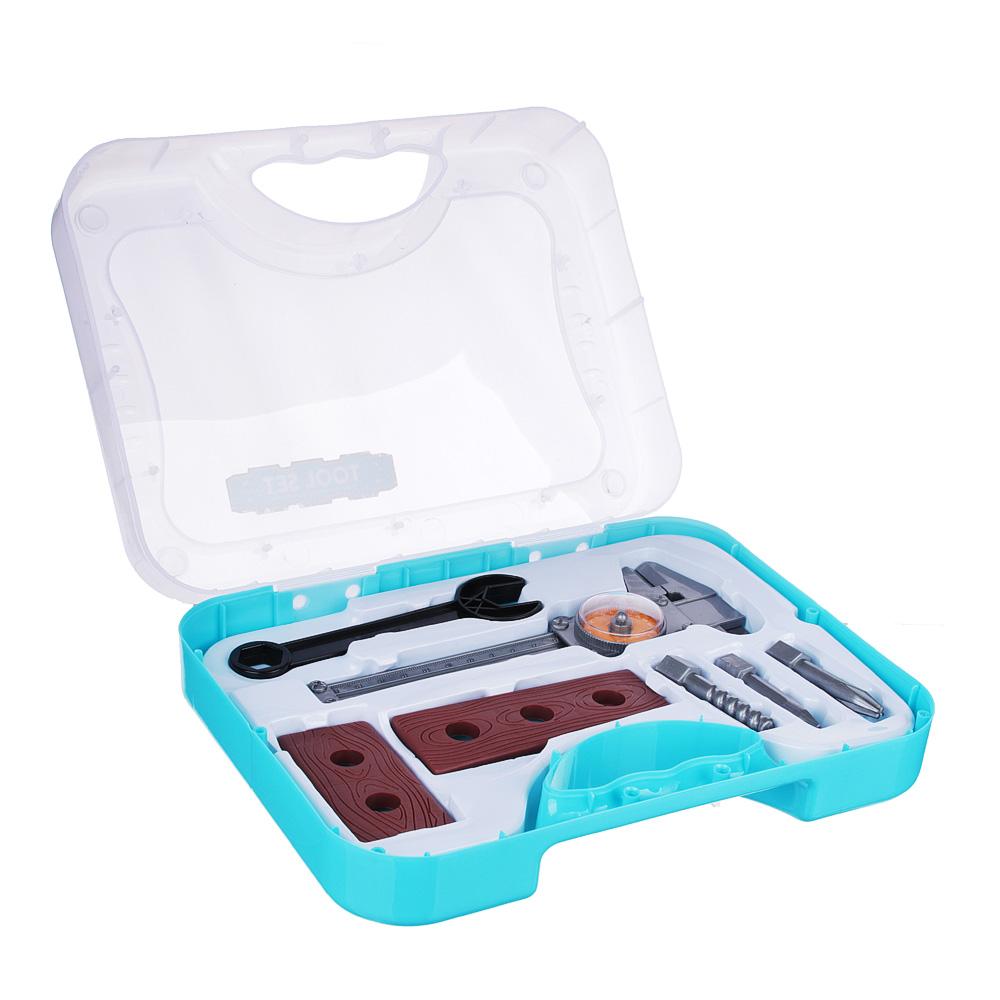 Набор инструментов в кейсе,12 предметов, пластик, 19х26,5х7,5 см - 2