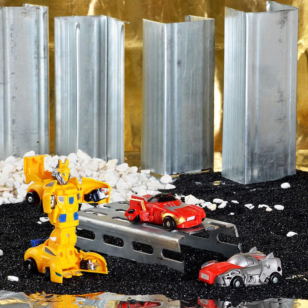 Набор роботов- машинок Страйк, пластик, 19,5х20,5х7,5см, 3 дизайна - 3