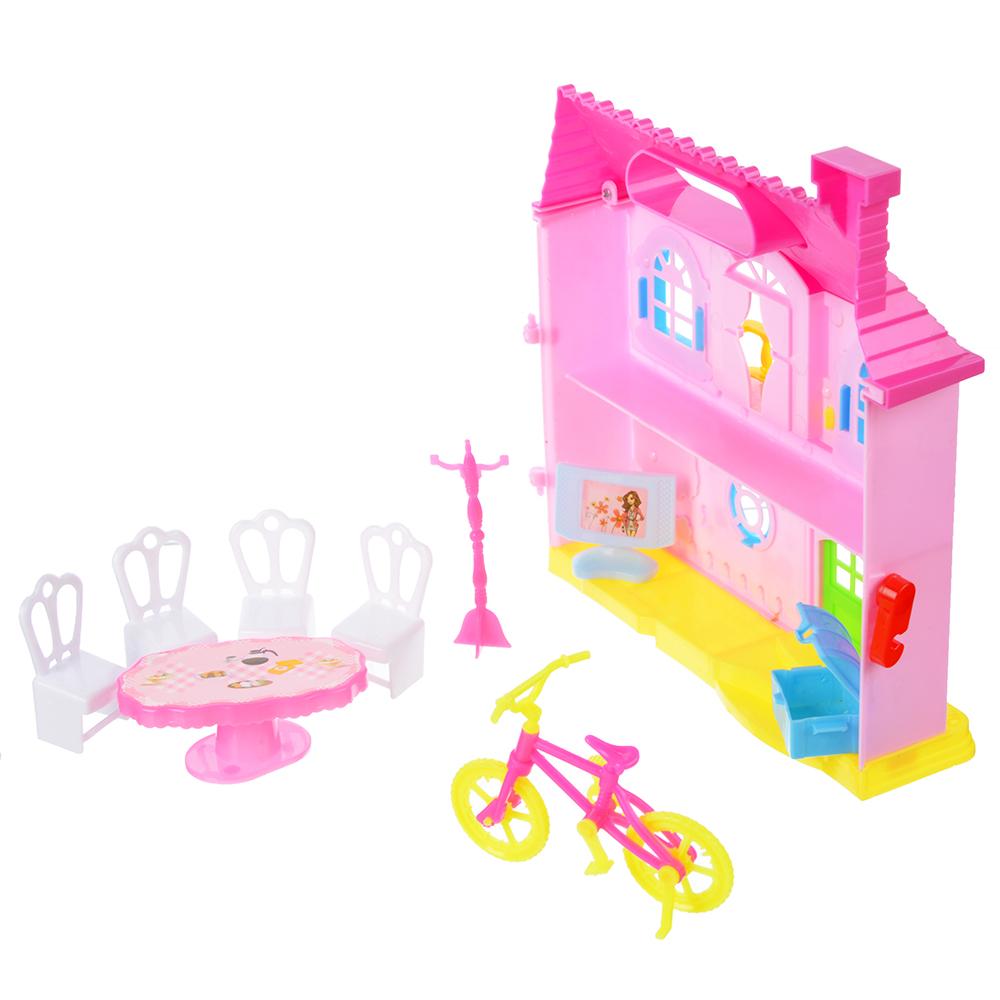 """Игровой набор """"Кукольный домик"""" с мебелью и аксесс., пластик, 39х22х6,5 см - 2"""