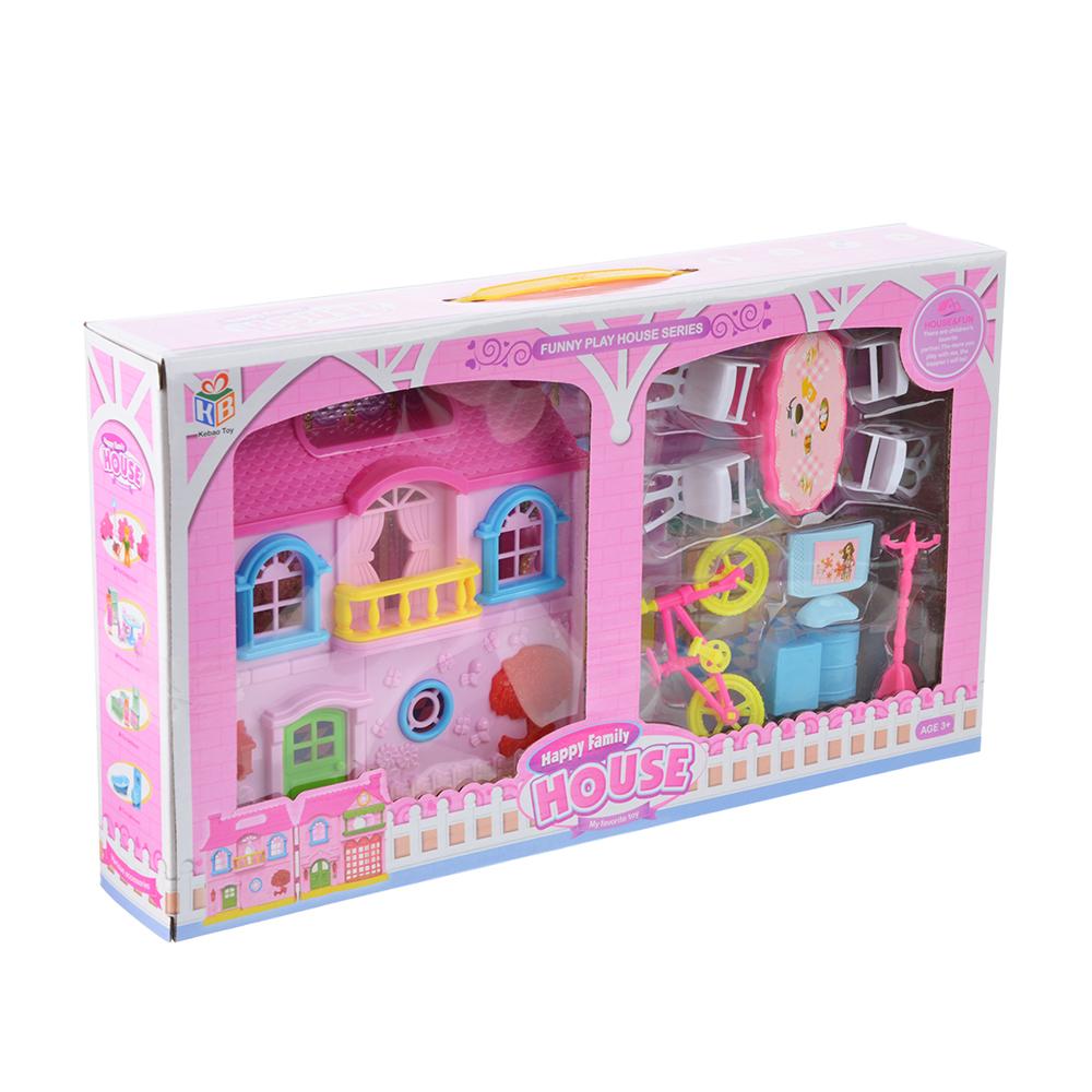 """Игровой набор """"Кукольный домик"""" с мебелью и аксесс., пластик, 39х22х6,5 см - 4"""