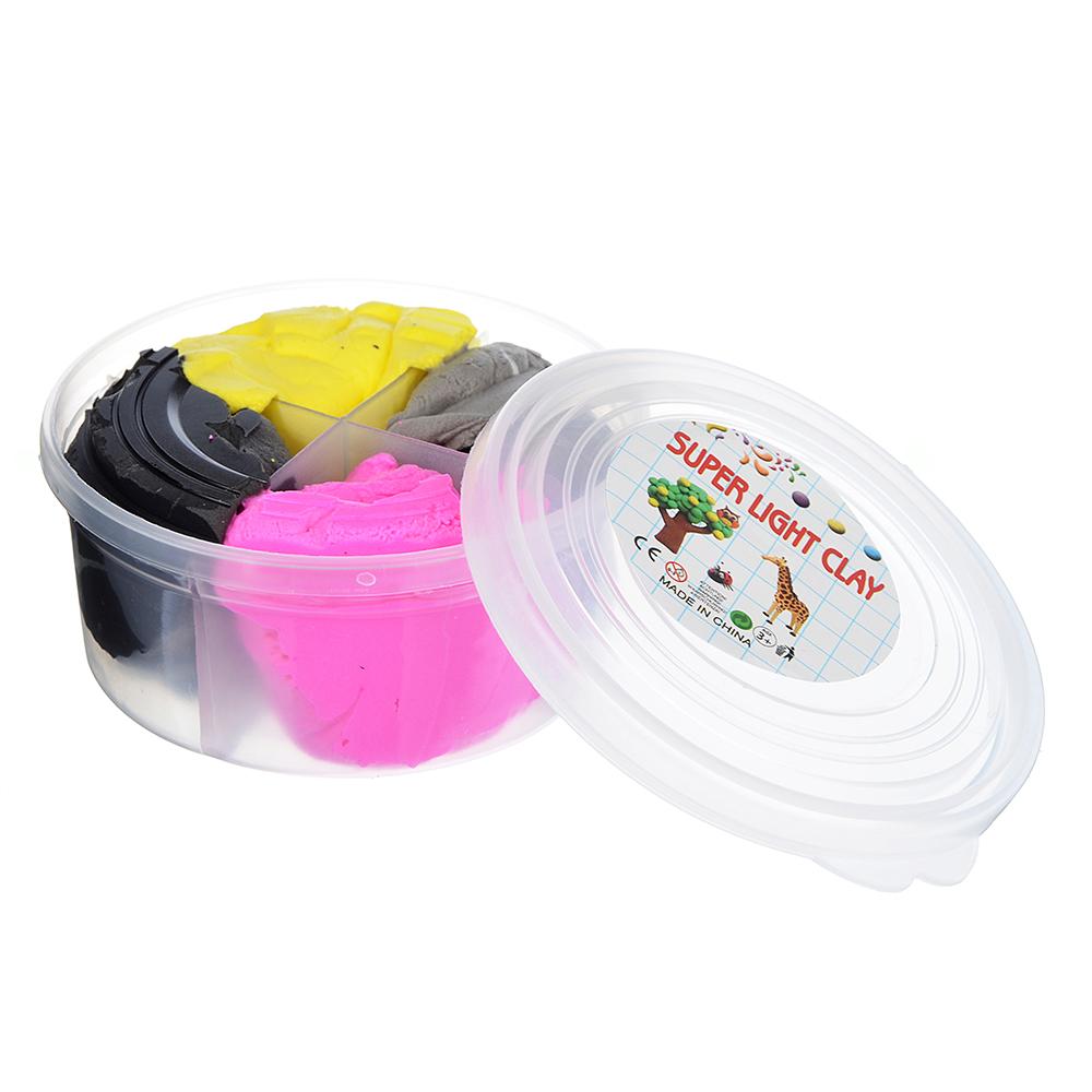 Глина застывающая легкая, в наборе 4 цвета, 50-60гр, полимер, 8х4х4см, 4-12 цветов - 2