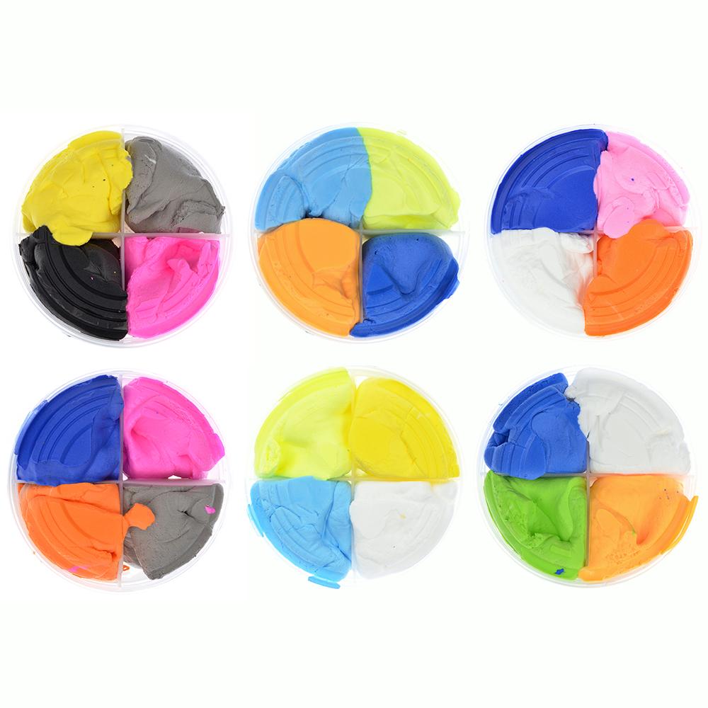 Глина застывающая легкая, в наборе 4 цвета, 50-60гр, полимер, 8х4х4см, 4-12 цветов - 3