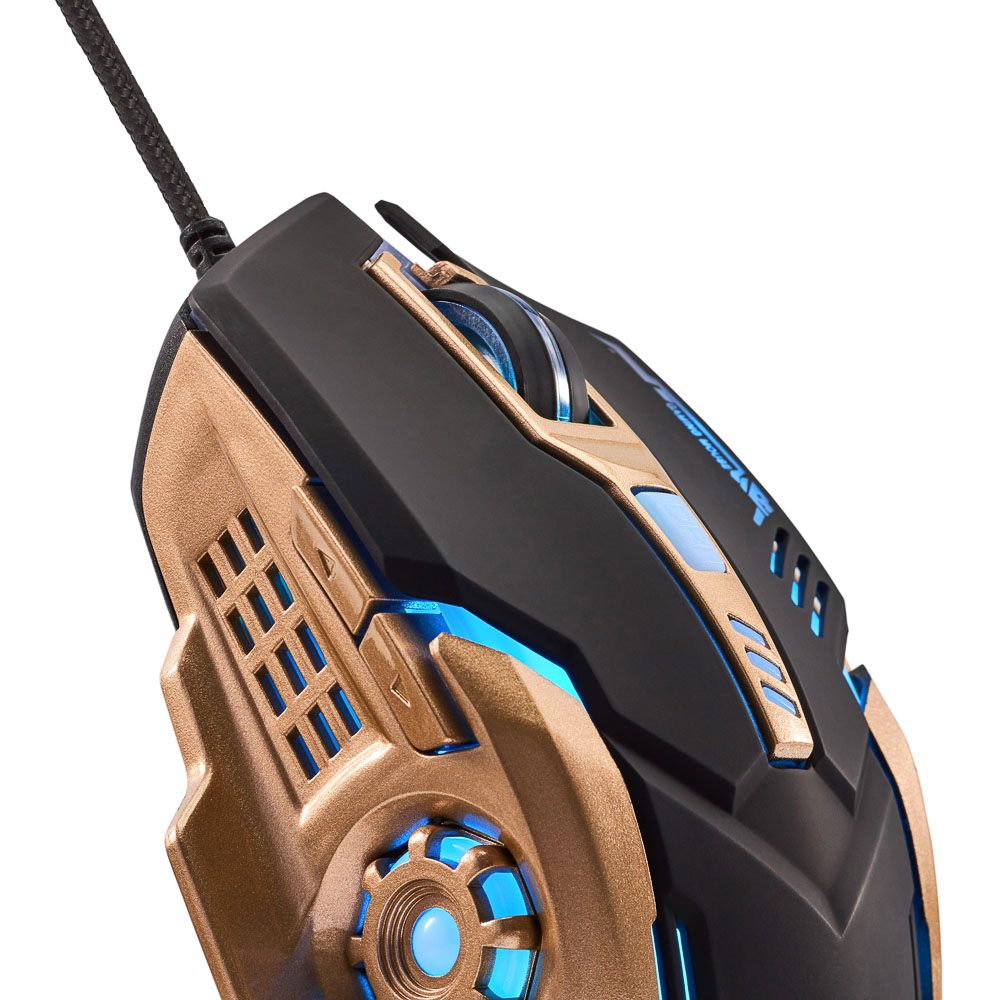FORZA Компьютерная мышь, игровая, 6 кнопок, с подсветкой, длина шнура 140см - 4