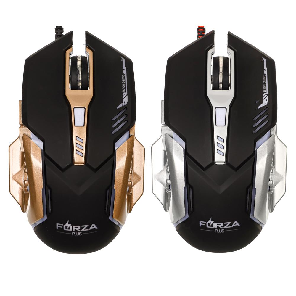FORZA Компьютерная мышь, игровая, 6 кнопок, с подсветкой, длина шнура 140см - 6