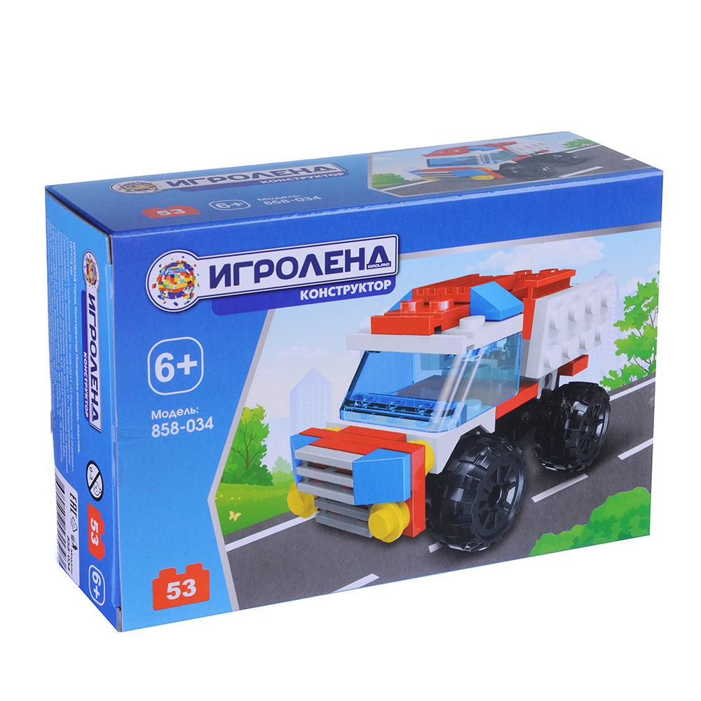 ИГРОЛЕНД Город Конструктор Пожарная помощь 39- 53дет., ABS, 10*7*3, 4-6 дизайнов - 2