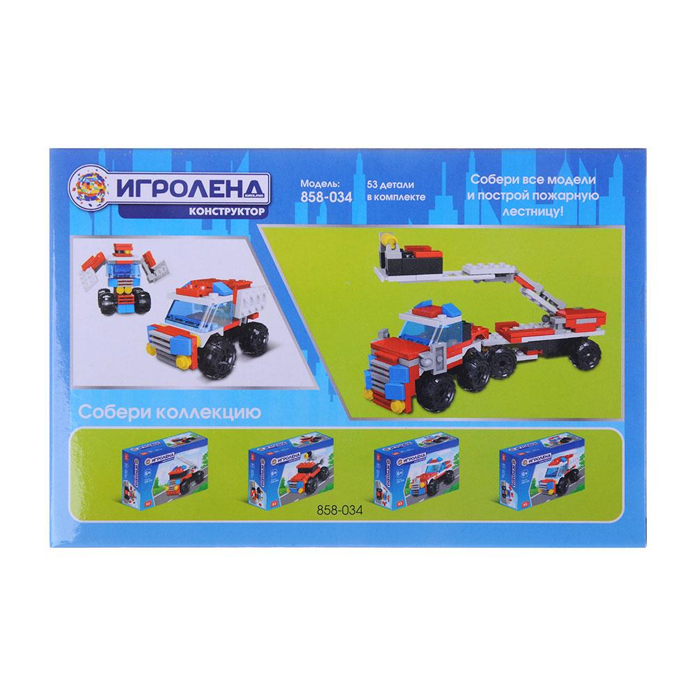 ИГРОЛЕНД Город Конструктор Пожарная помощь 39- 53дет., ABS, 10*7*3, 4-6 дизайнов - 3