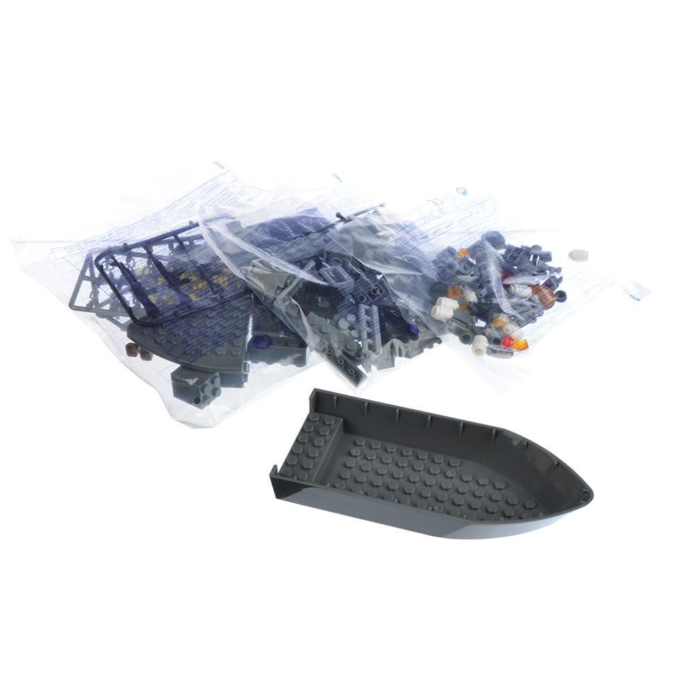 ИГРОЛЕНД Армия Конструктор Военный крейсер, 193дет., пластик, 20x15x6см - 3