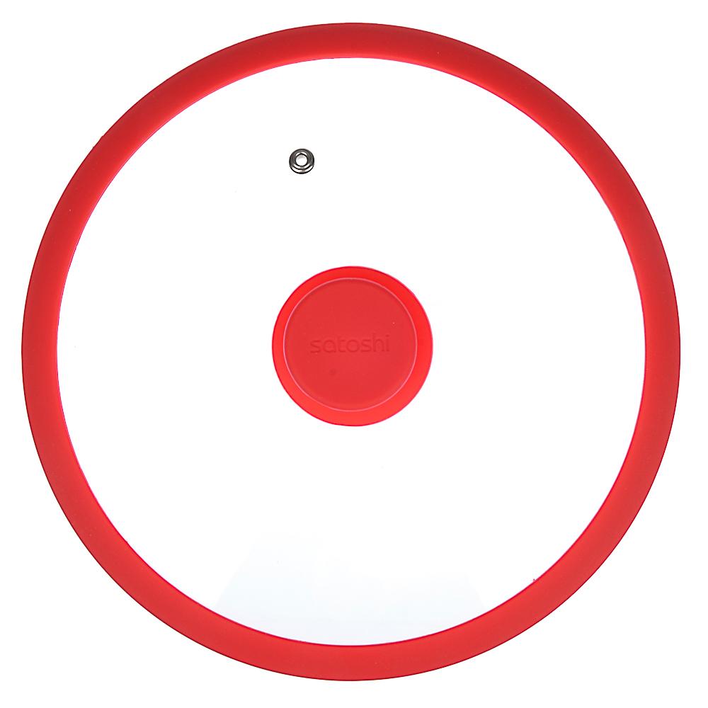 Крышка для сковороды d. 24 см SATOSHI, стекло/силикон с ручкой, 3 цвета - 3